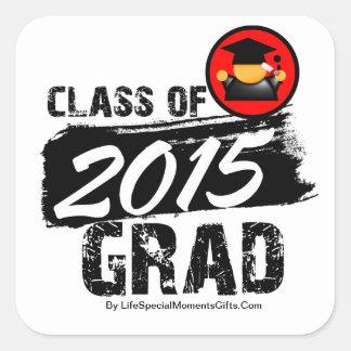 Cool Class of 2015 Grad Square Stickers