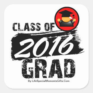 Cool Class of 2016 Grad Square Stickers
