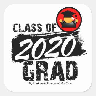 Cool Class of 2020 Grad Square Stickers