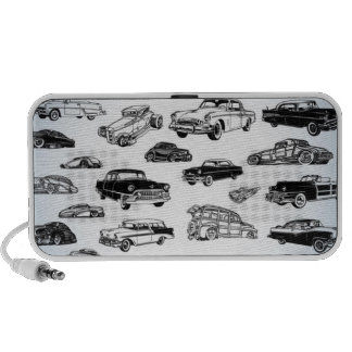 Cool Classic Cars Doodle Speaker