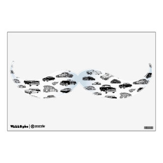 Cool Classic Cars Moustache Wall Sticker