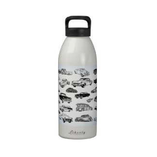 Cool Classic Cars Water Bottle