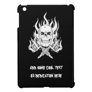 Cool Classic Elegant Black White Skull tattoo iPad Mini Case