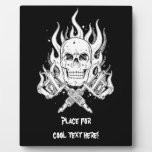 Cool Classic Elegant Black White Skull tattoo Plaque