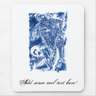 Cool Classic Japanese Demon tattoo Mouse Pad
