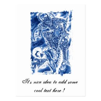 Cool Classic Japanese Demon tattoo Postcards