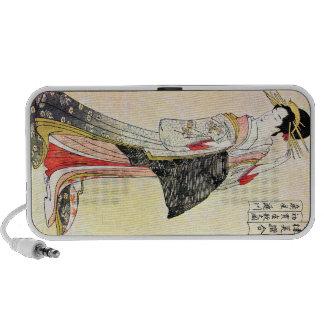 Cool Classic Oriental Japanese Geisha art Mp3 Speakers