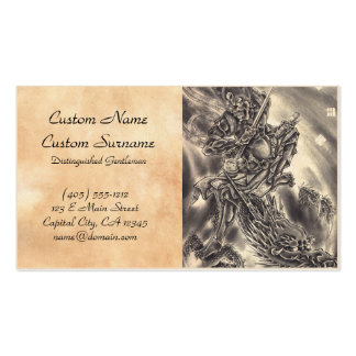 Dragon tattoo business cards templates zazzle for Business card size tattoos