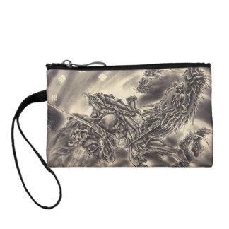 Cool classic vintage japanese demon dragon tattoo change purse
