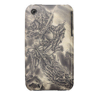 Cool classic vintage japanese demon dragon tattoo iPhone 3 cover