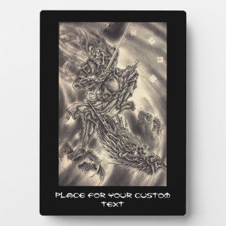 Cool classic vintage japanese demon dragon tattoo photo plaques