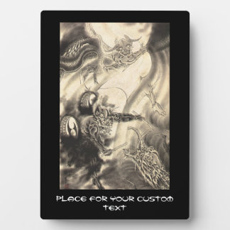 Cool classic vintage japanese demon dragon tattoo plaques