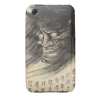 Cool classic vintage japanese demon head tattoo Case-Mate iPhone 3 case