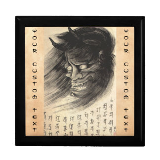 Cool classic vintage japanese demon head tattoo gift box