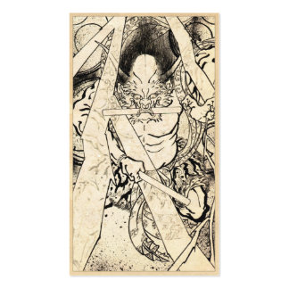 Cool classic vintage japanese demon ink tattoo art business card
