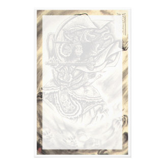 Cool classic vintage japanese demon ink tattoo art stationery