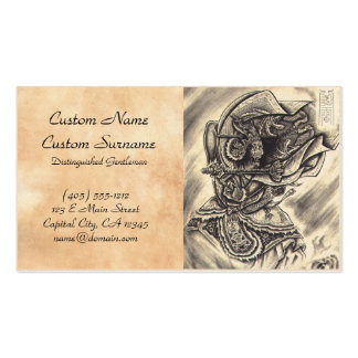 Cool classic vintage japanese demon ink tattoo business card
