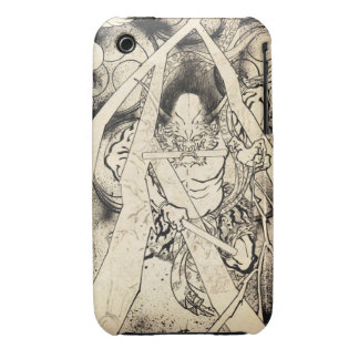 Cool classic vintage japanese demon ink tattoo iPhone 3 Case-Mate case