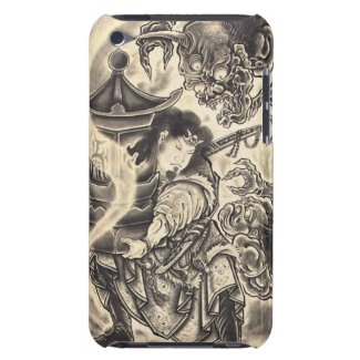 Cool classic vintage japanese demon ink tattoo iPod touch case