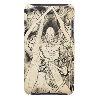 Cool classic vintage japanese demon ink tattoo barely there iPod cases