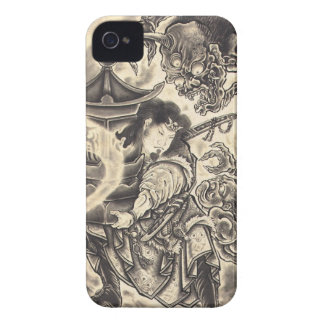Cool classic vintage japanese demon ink tattoo iPhone 4 Case-Mate cases
