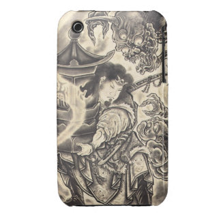 Cool classic vintage japanese demon ink tattoo Case-Mate iPhone 3 cases