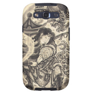 Cool classic vintage japanese demon ink tattoo galaxy s3 covers