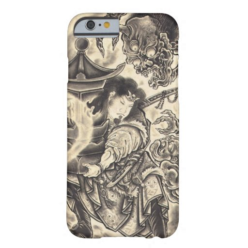 Cool classic vintage japanese demon ink tattoo barely for Tattoo artist iphone cases