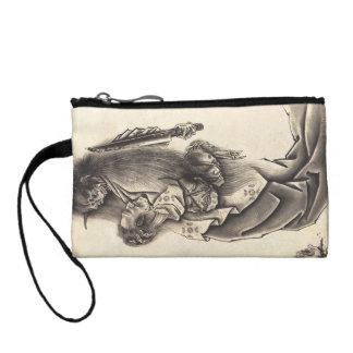 Cool classic vintage japanese demon ink tattoo change purses