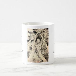 Cool classic vintage japanese demon ink tattoo coffee mug