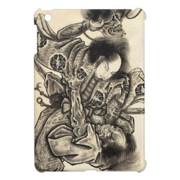 Cool classic vintage japanese demon ink tattoo iPad mini case