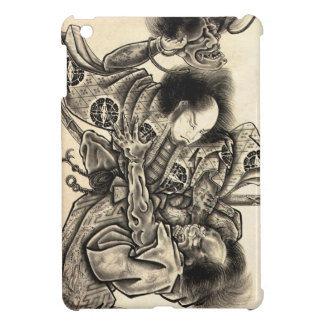 Cool classic vintage japanese demon ink tattoo iPad mini cover