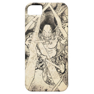 Cool classic vintage japanese demon ink tattoo iPhone SE/5/5s case