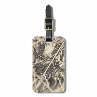 Cool classic vintage japanese demon ink tattoo bag tag