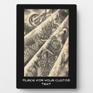 Cool classic vintage japanese demon ink tattoo plaques