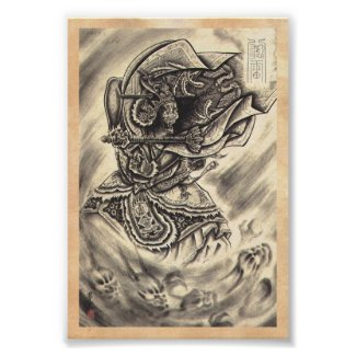 Cool classic vintage japanese demon ink tattoo posters