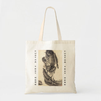 Cool classic vintage japanese demon ink tattoo tote bag