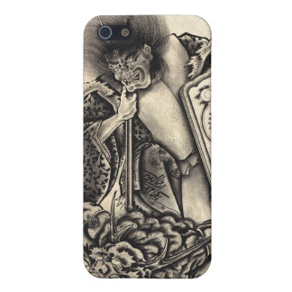Cool classic vintage japanese demon ink too cover for iPhone 5