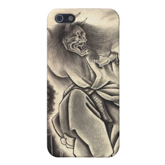 Cool classic vintage japanese demon ink too iPhone 5 cover