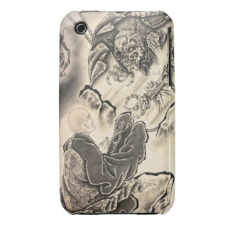 Cool classic vintage japanese demon monk tattoo iPhone 3 Case-Mate case