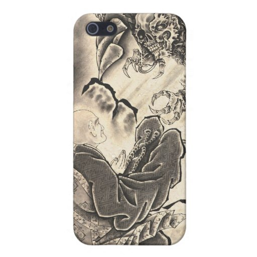 Cool classic vintage japanese demon monk too cover for iPhone 5