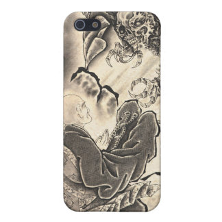 Cool classic vintage japanese demon monk too iPhone SE/5/5s case