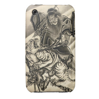 Cool classic vintage japanese demon samurai tiger iPhone 3 covers