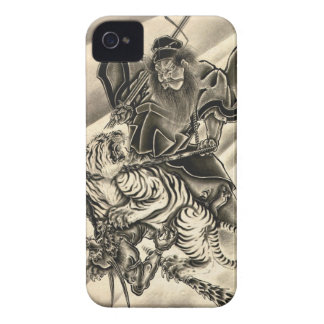 Cool classic vintage japanese demon samurai tiger iPhone 4 cover