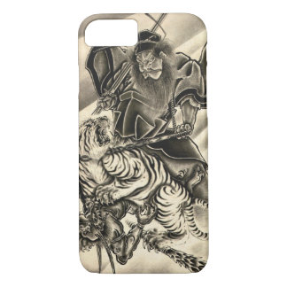 Cool classic vintage japanese demon samurai tiger iPhone 8/7 case
