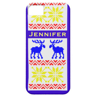 Cool Classic Winter Moose Sweater Pattern Custom iPhone 5 Covers
