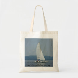 "cool ""clear sailing"" tote bag"