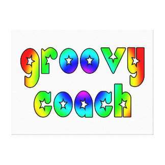 Cool Coaches Birthday Victory Parties Groovy Coach Canvas Prints
