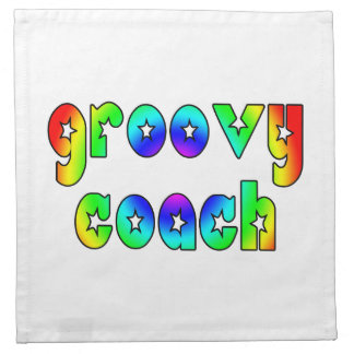 Cool Coaches Birthday Victory Parties Groovy Coach Printed Napkin