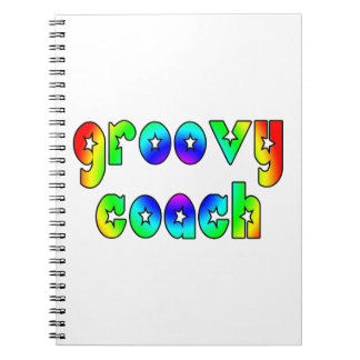 Cool Coaches Birthday Victory Parties Groovy Coach Spiral Notebooks